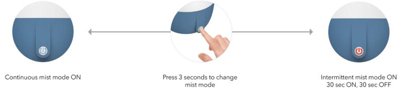 Anton had 2 mist modes