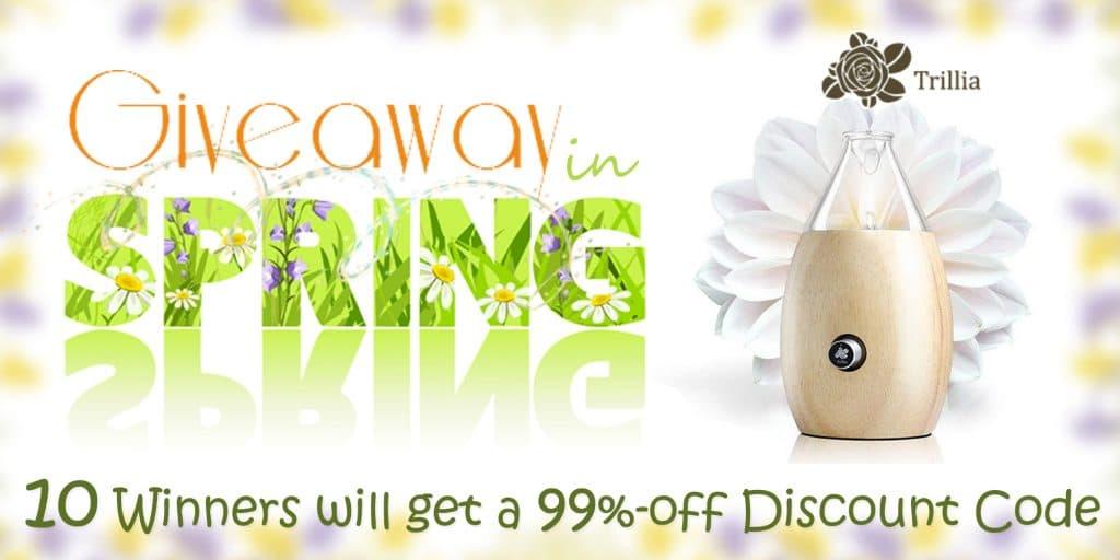 Giveaway in Spring - Trillia MINA III Nebulizer Diffuser