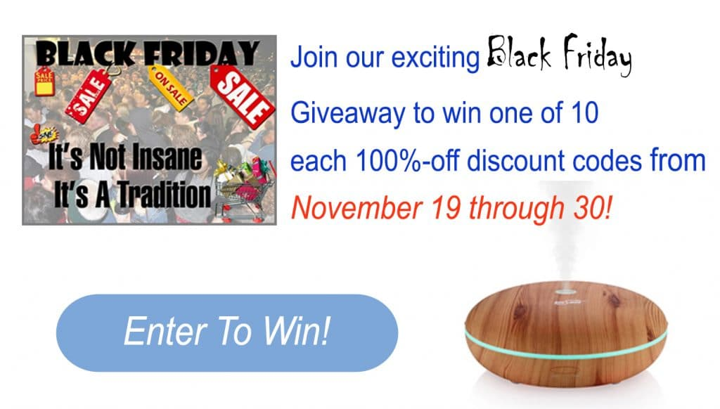 Black friday Giveaway Diffuser